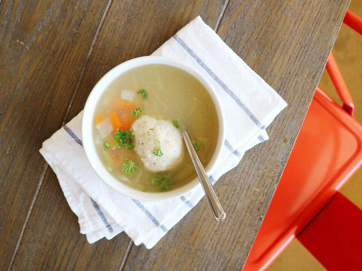 The Soup Peddler matzoh ball soup