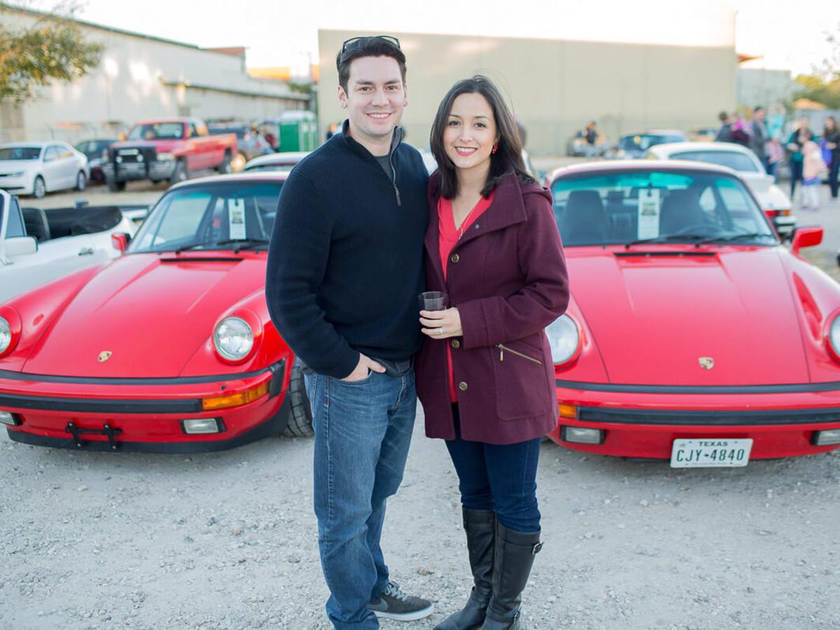 Houston, TejasTreffen Porsche event, Nov 2016, Frank Armstrong, Candice Armstrong