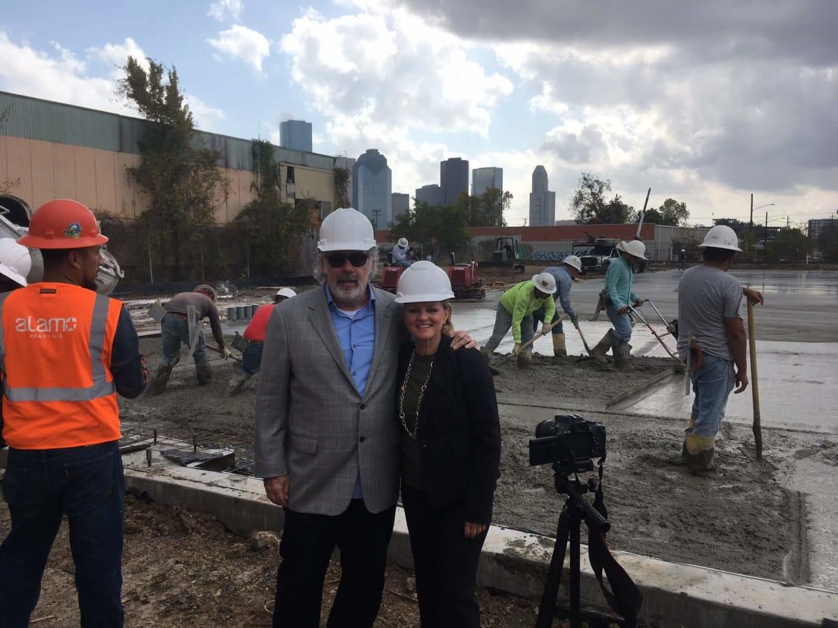 Susan Christian, Jack Murphy at Club Nomadic concrete pouring