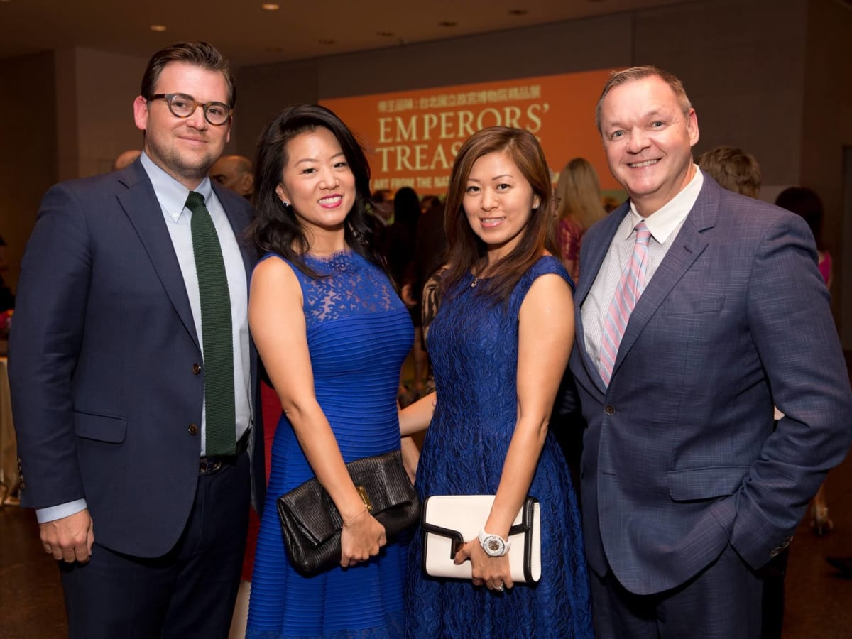 MFAH Emperors Treasures dinner, Joshua Ghormley, Annie Ghormley, Michelle O'Brien, Keith O'Brien