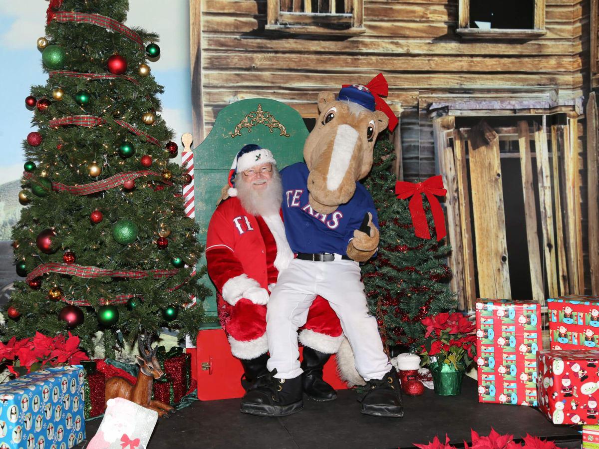 Texas Rangers presents Anxiously Awaiting Santa Tours