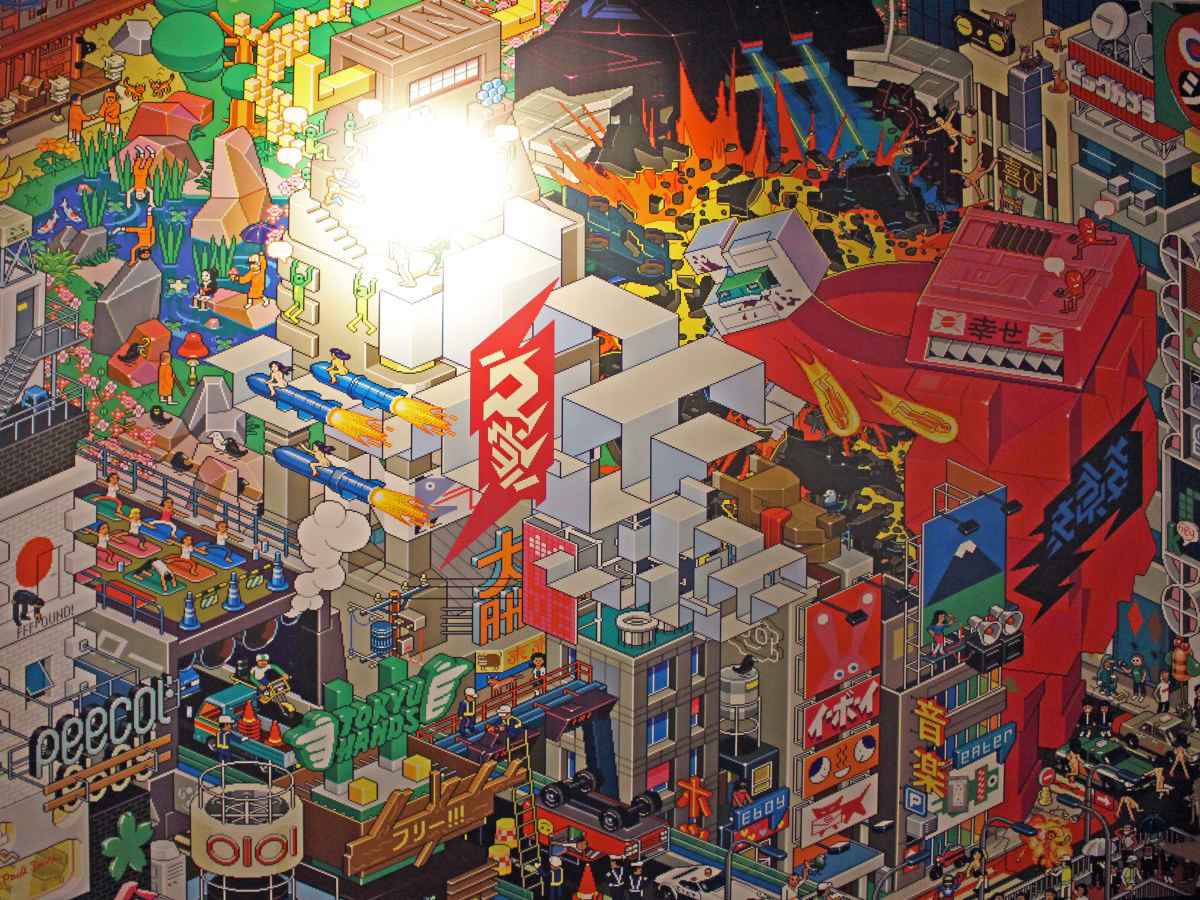 Austin Beerworks break room mural