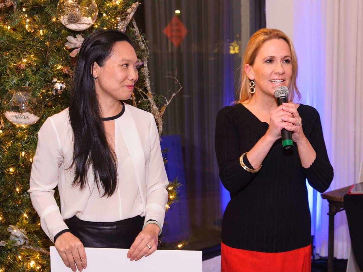 YTAC Dallas holiday party check presentation