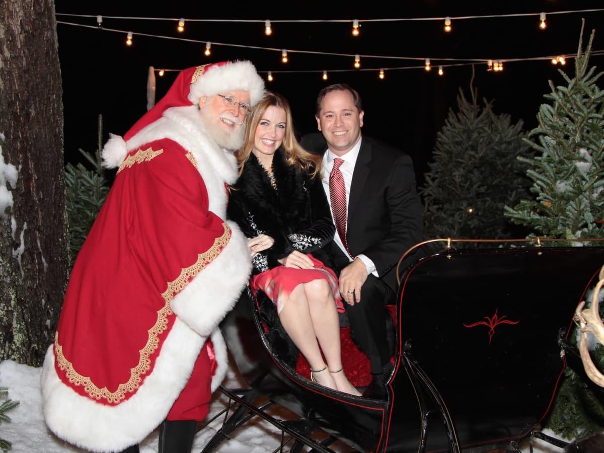 MD Anderson Santa's Elves party, Santa, Kristin Thrasher, David Thrasher
