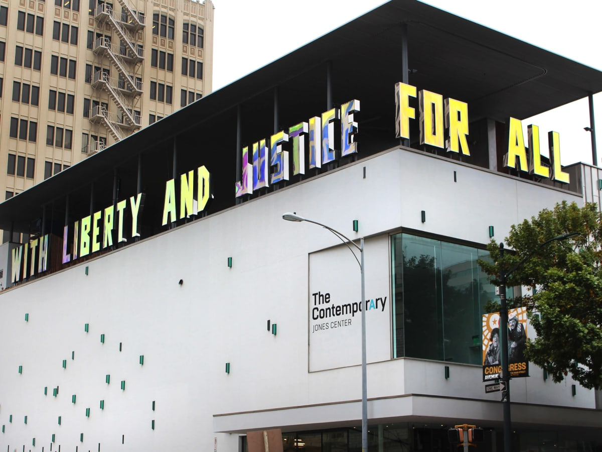 The Contemporary Austin Jones Center With Liberty and Justice for All Jim Hodges 2016