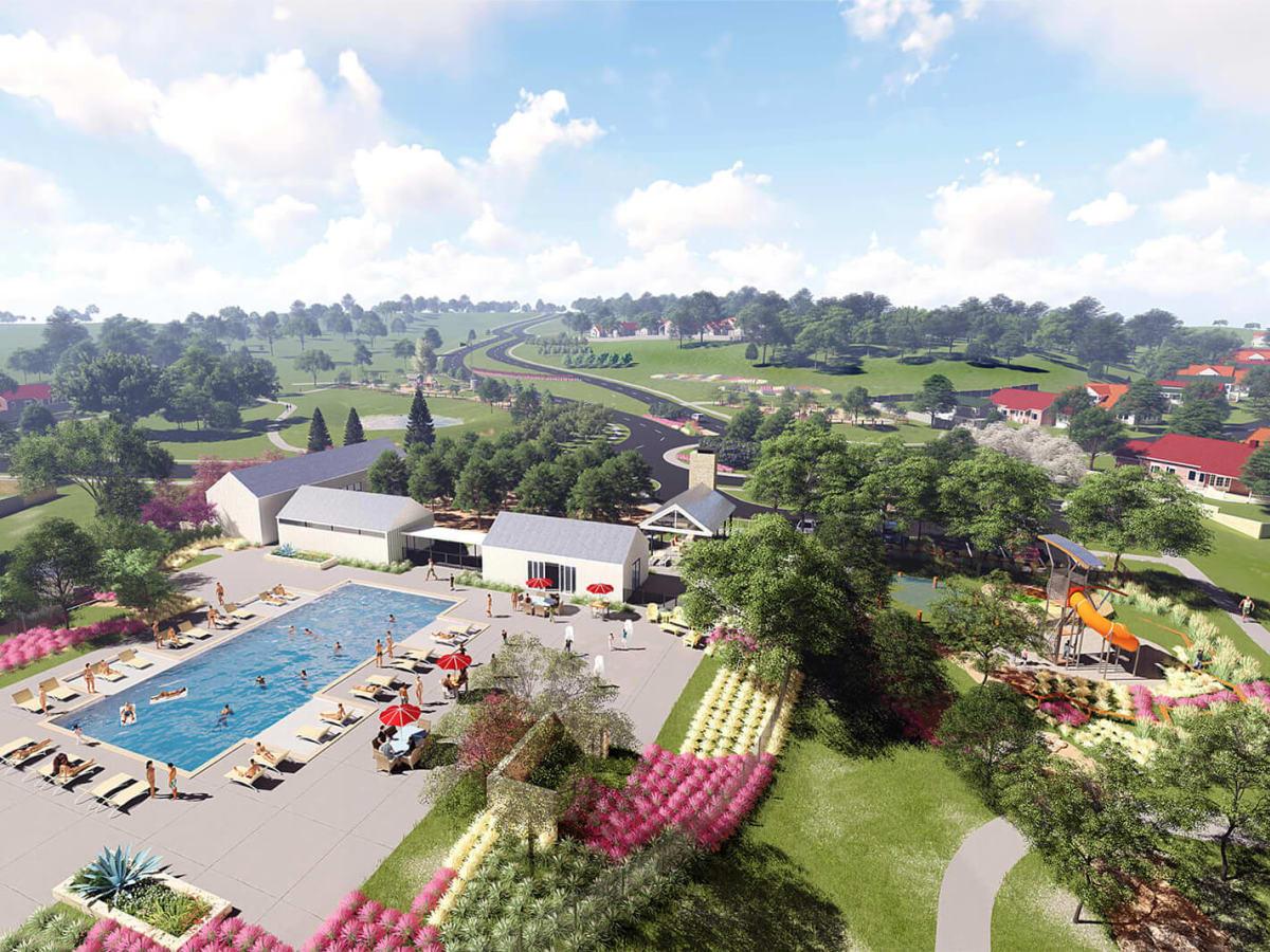 Orchard Ridge housing development Liberty Hill amenity center rendering