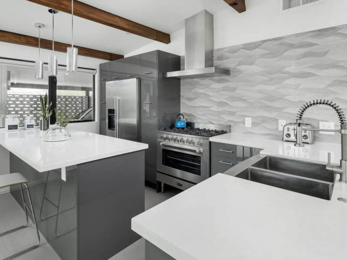 Contemporary gray kitchen