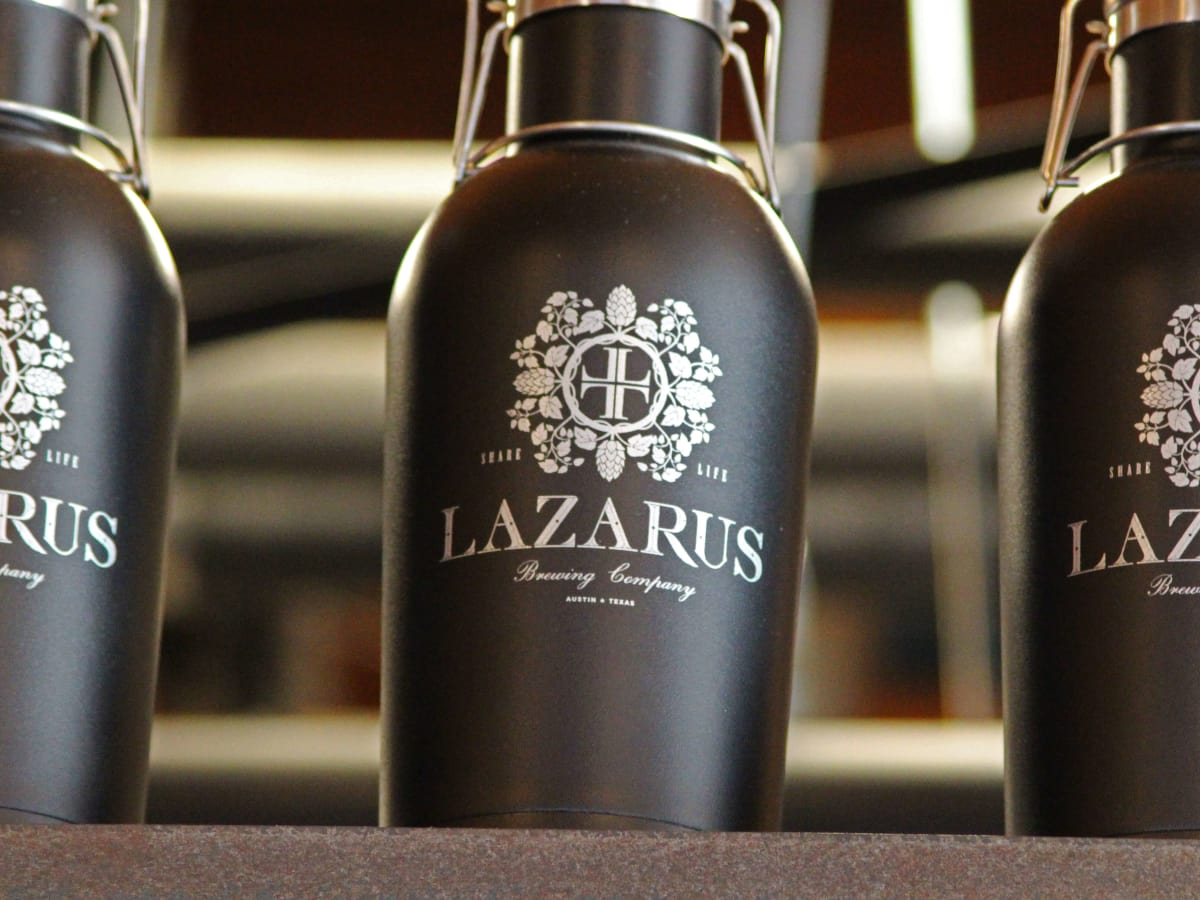Lazarus Brewing Company brewery Austin growler