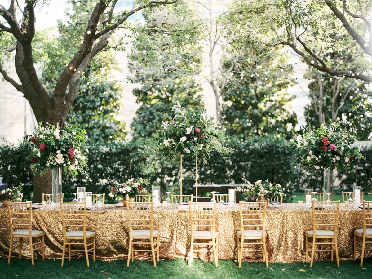Jared + Diana table setting