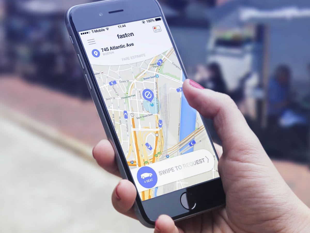 Fasten ride sharing hailing TNC Boston app phone
