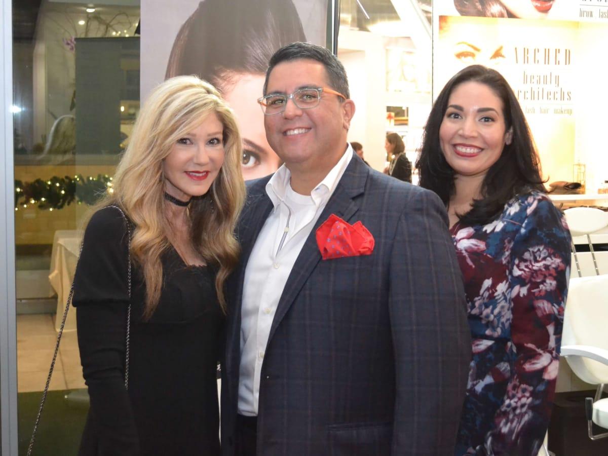 Bella Rinova salon grand opening, Patti Murphy, Dr. Roland Maldonado, Enid Sanchez