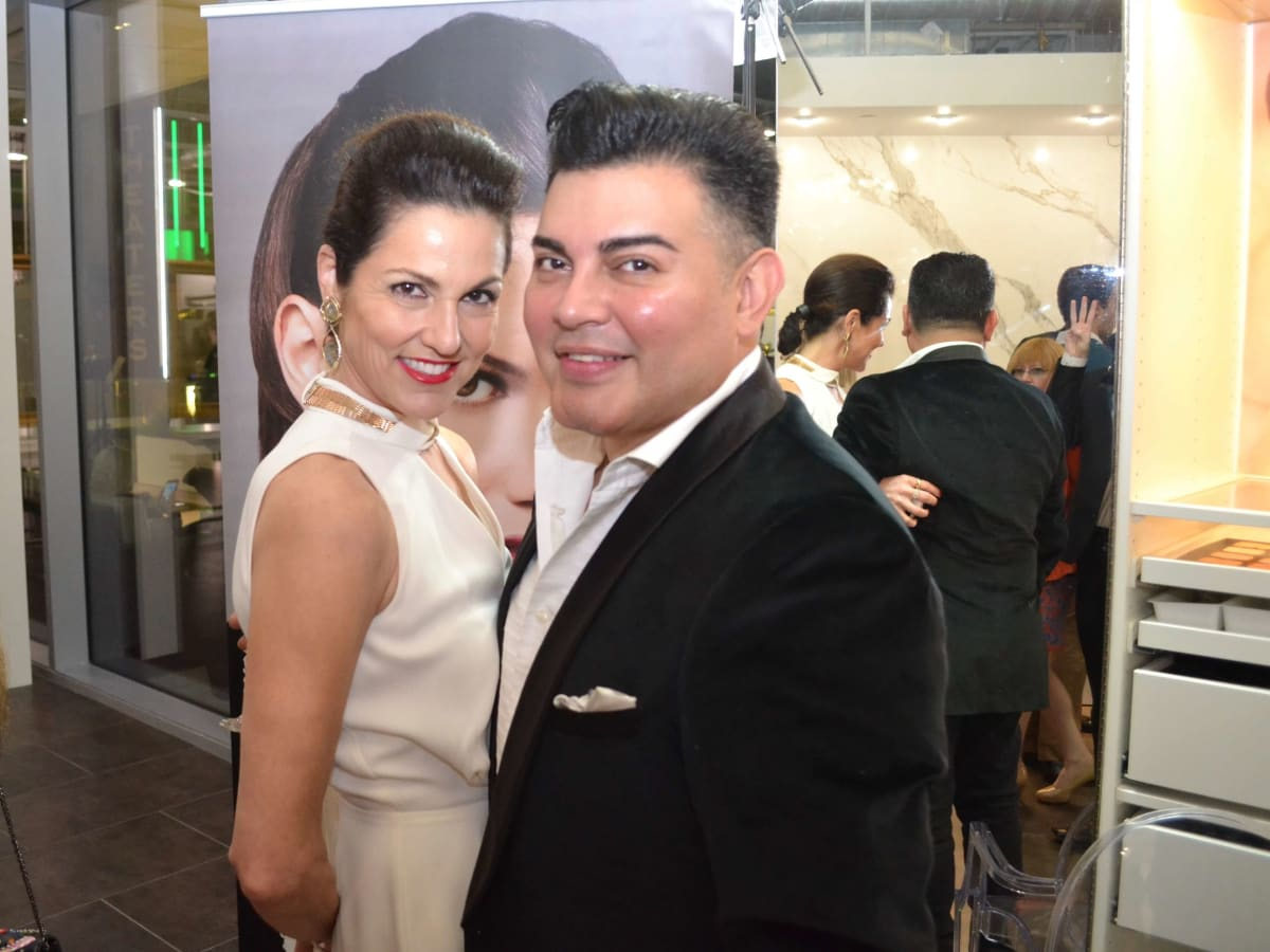 Bella Rinova salon grand opening, Jessica Rossman, Edward Sanchez