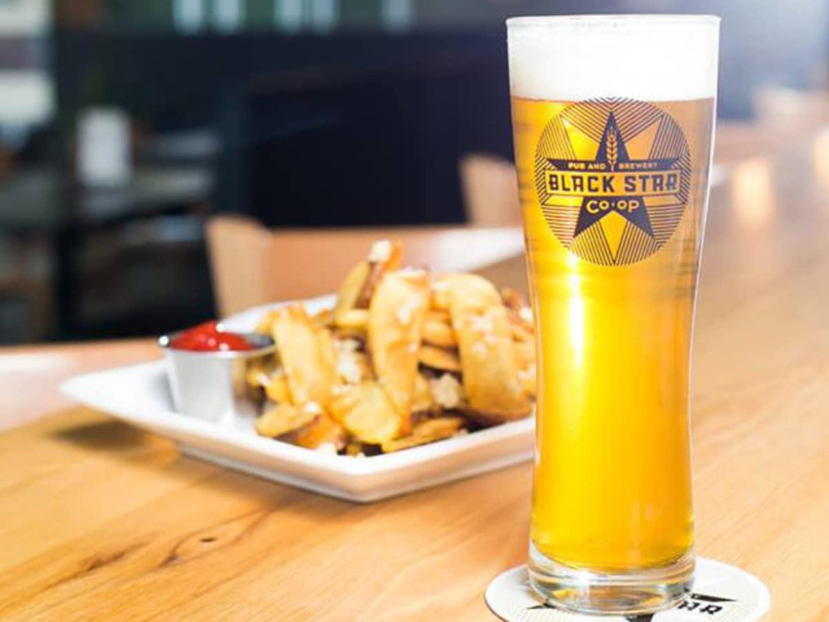 Black Star Co-op Pub and Brewery beer fries