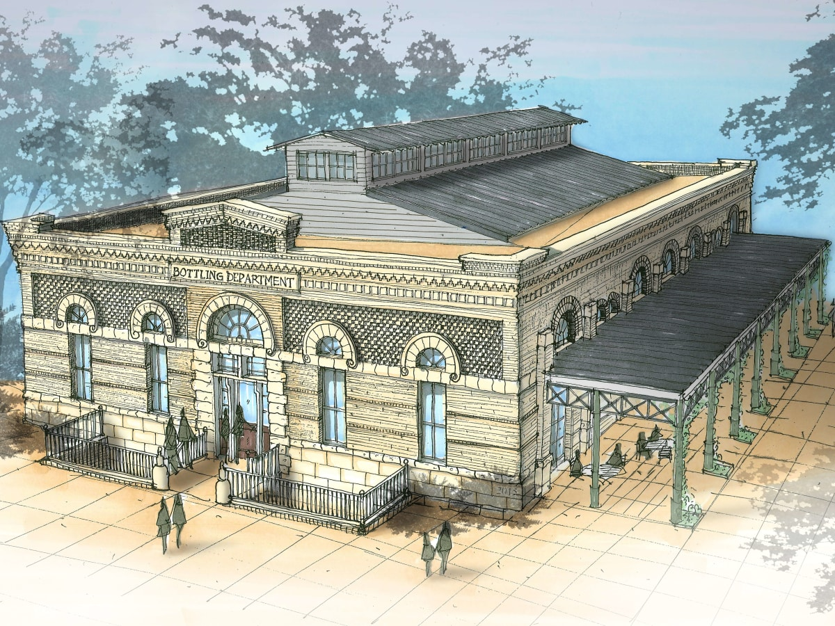 Pearl Brewery food hall exterior rendering