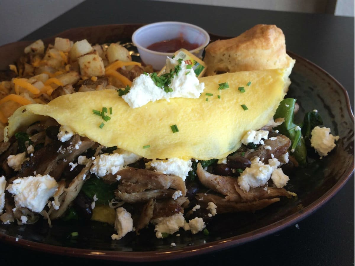 Crickle's and Co. omelet