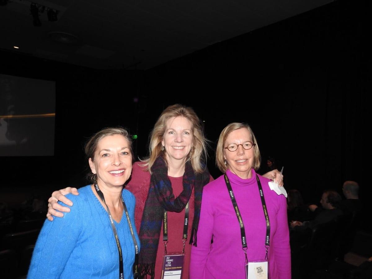 Retired ExxonMobil attorneys Pam Kavieff, Susan Rowe and Ruth Duenser