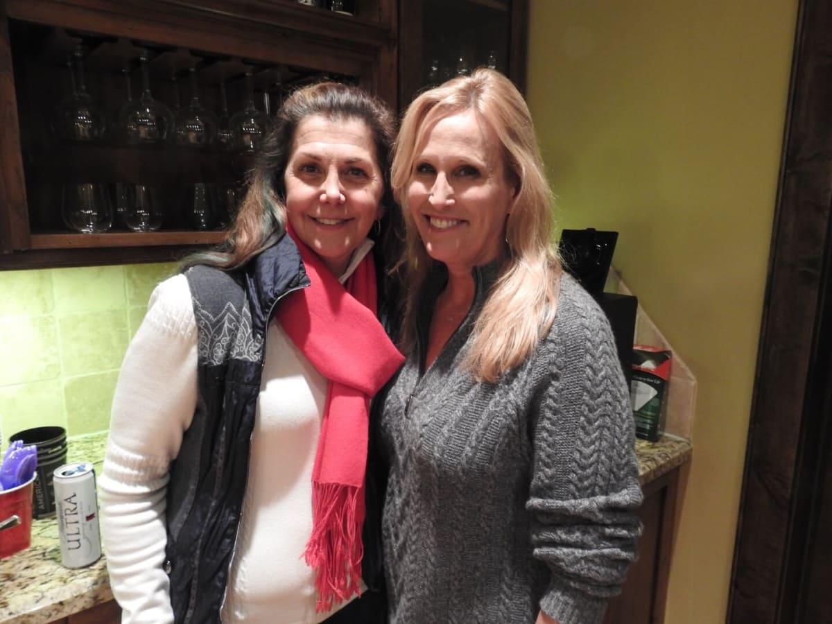 Peggy Burck and Vanessa Sendukas at Schatzman Sundance house party