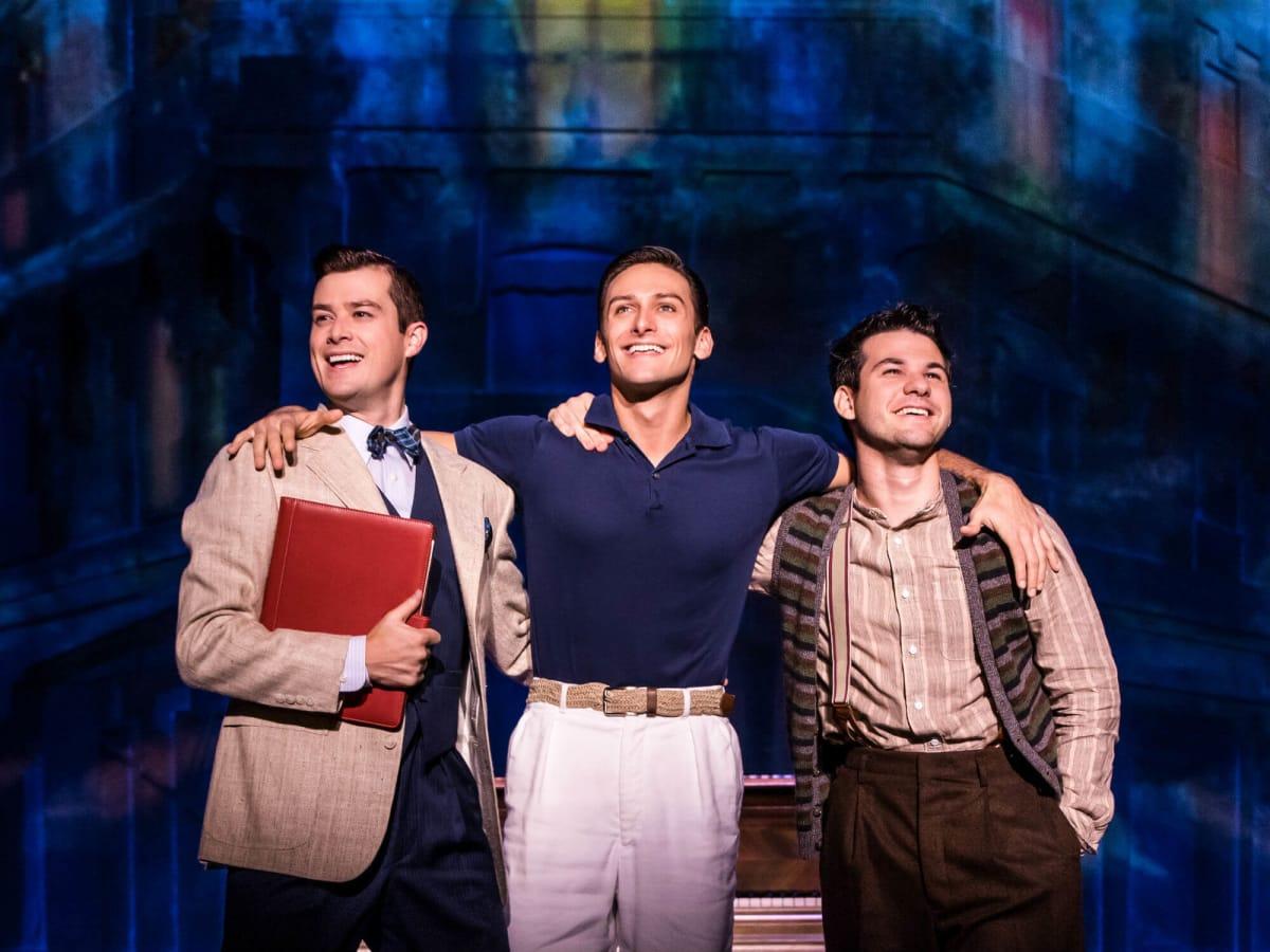 Nick Spangler, Garen Scribner, and Etai Benson in An American in Paris