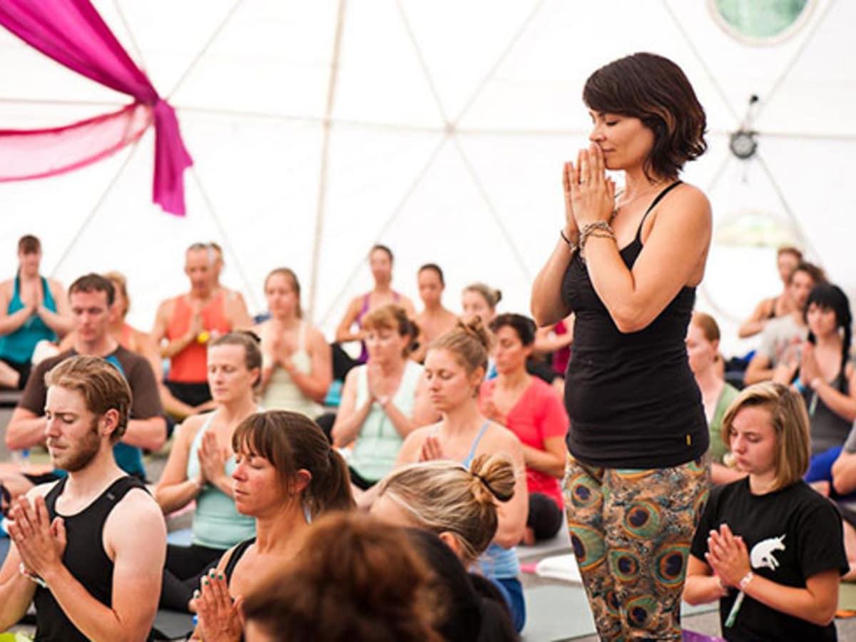 Wanderlust Festival Yoga Practitioners 2014