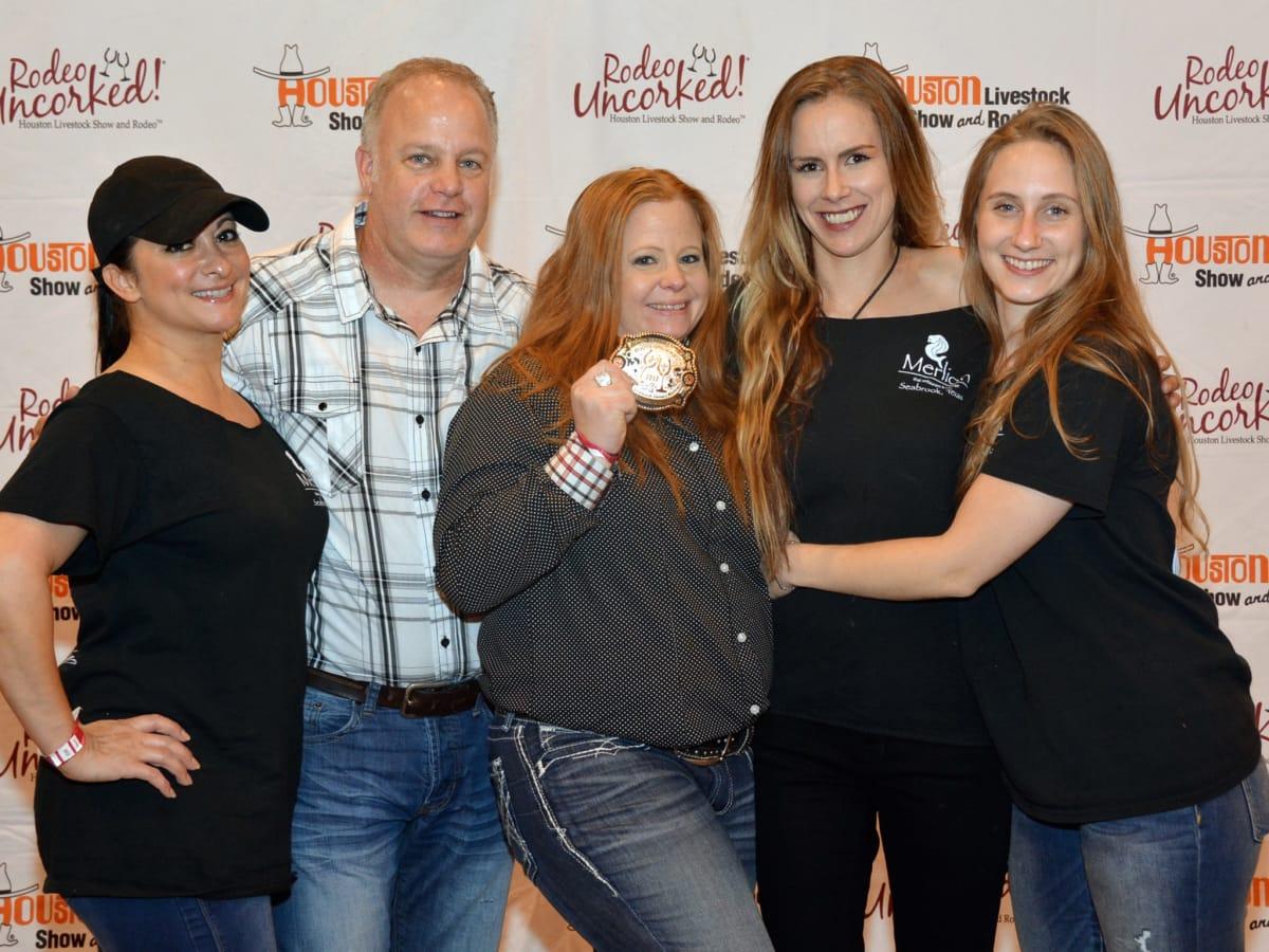 Merlion winners Teresa Alvear, Brooke Villanueva, Ray Villanueva, Caleen Worthern, Kandyce Langley at Rodeo Best Bites