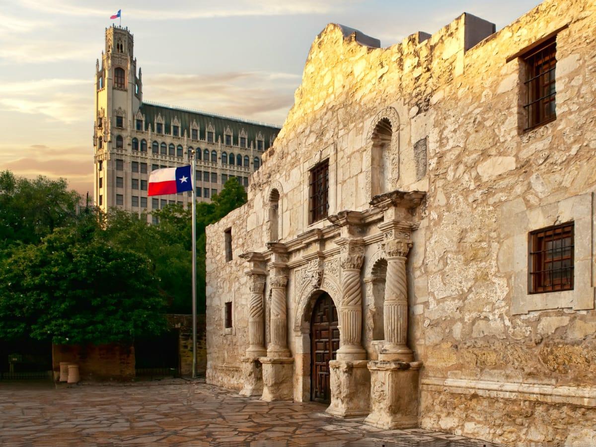 The Emily Morgan Hotel and the Alamo san antonio