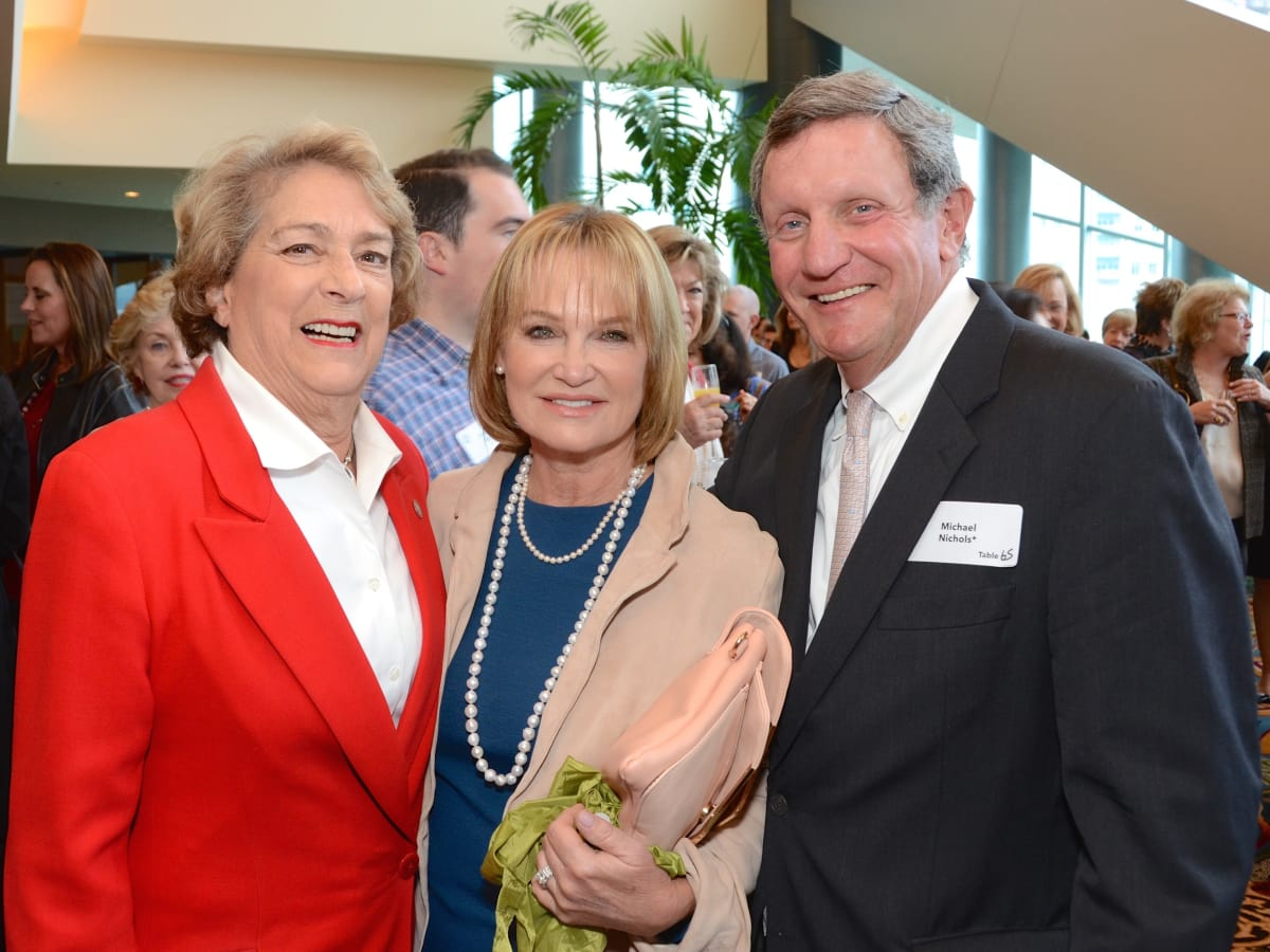 Planned Parenthood luncheon, Ellen Cohen, Marcia and Mike Nichols