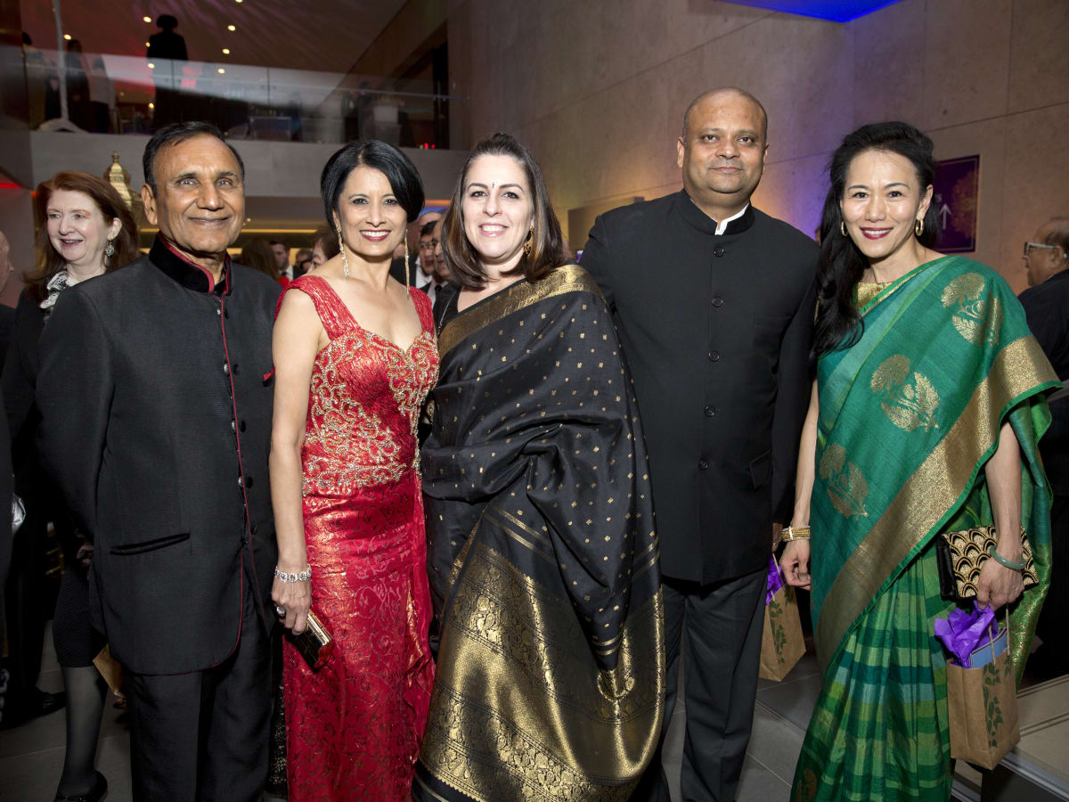 Houston, Tiger Ball, March 2017, Suresh Khator, Dr. Renu Khator, Dr. Amit Ray, consul general of India Anupam Ray, Y. Ping Sun