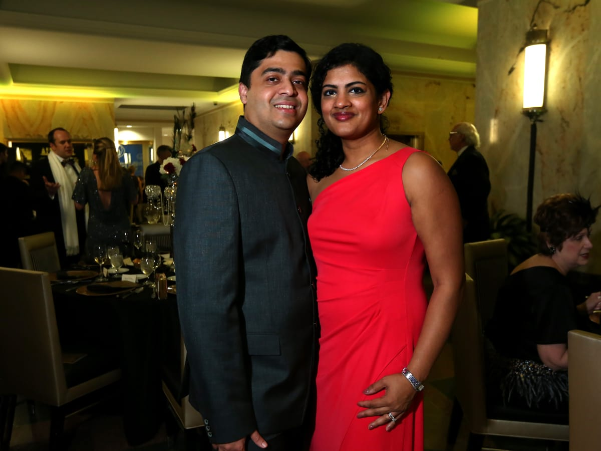 "Vivek and Ishwaria Subbiah at the Ars Lyrica ""Roaring Twenties"" Gala"