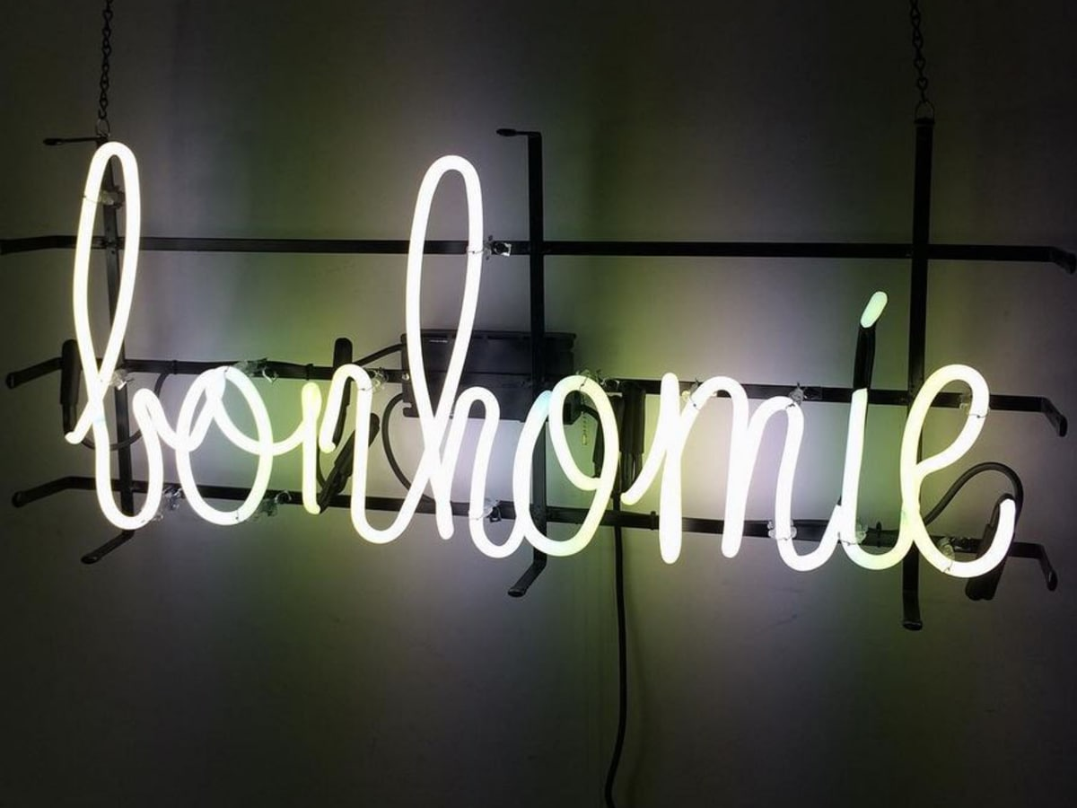 Bonhomie restaurant sign