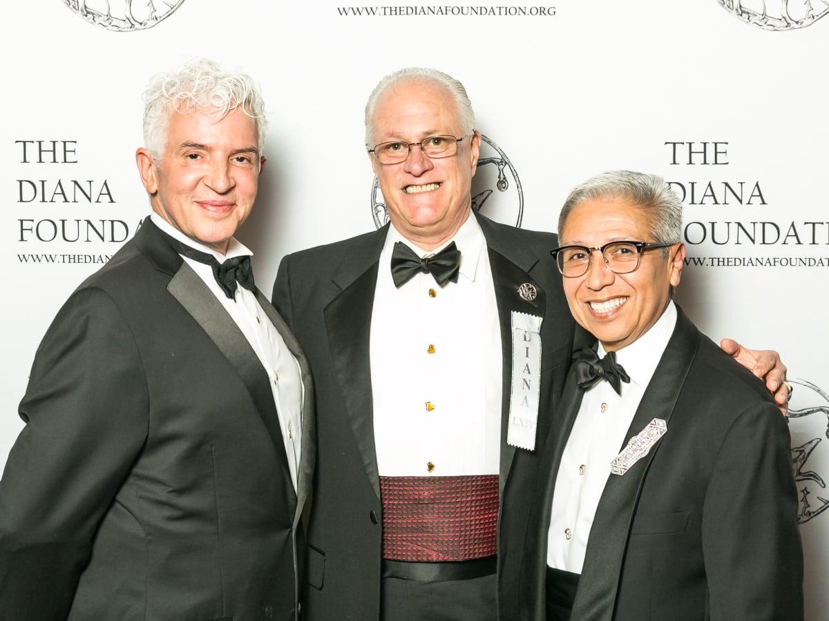 Juan Rodriguez, Richard Fluhr and Rudy Hernandez, Jr. at Diana Awards