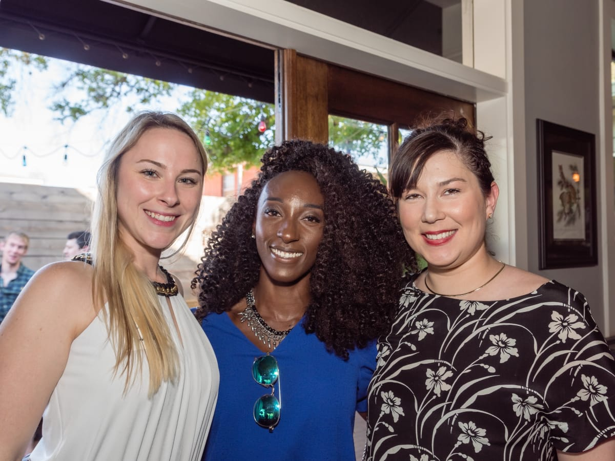 Nicole Mireles, Sheila Forjuoh,Mary Isensee at Women of Wardrobe Spring Fling Mardh 2017