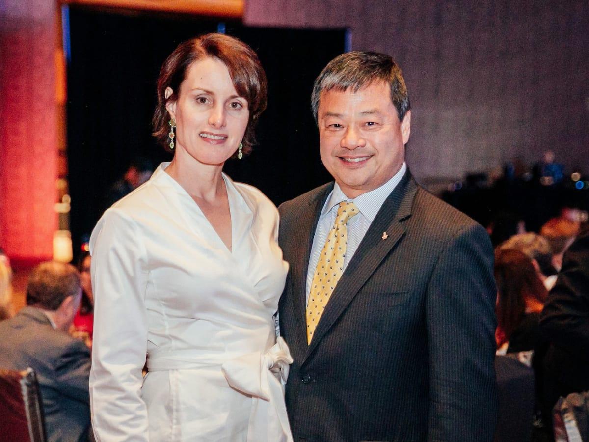 Houston, Space Center Houston Galaxy Gala, April 2017, Dr. Karen Chiao, Dr. Leroy Chiao