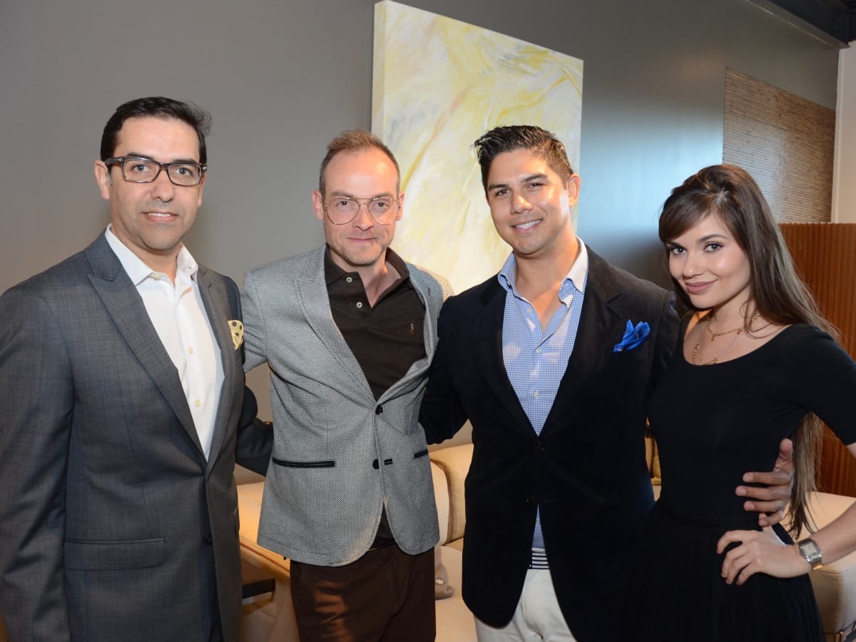 Marcelo saenz, kevin sustala, abe levitz, Julia Marantidi at BeDesign party