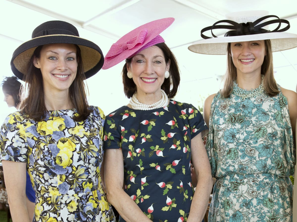 Houston, hats in the park, April 2017, Kate Bellin, Susie Criner, Annie Eifler