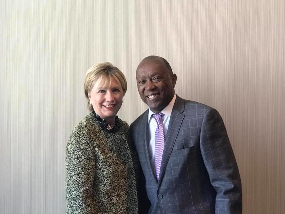 Hillary Clinton, Mayor Sylvester Turner at Annie's List luncheon