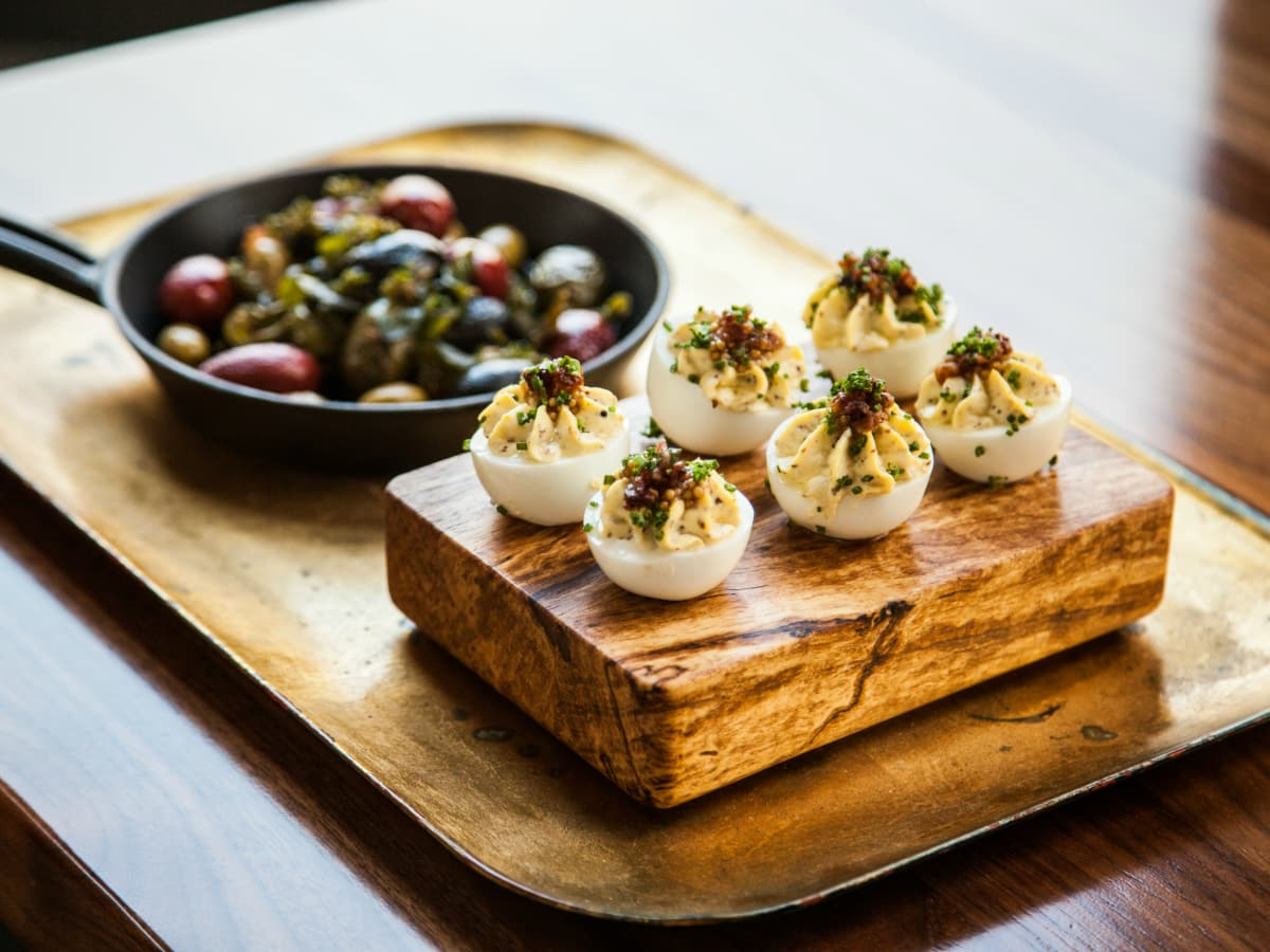 Goodall's Kitchen & Bar Austin restaurant Hotel Ella deviled eggs dish 2015