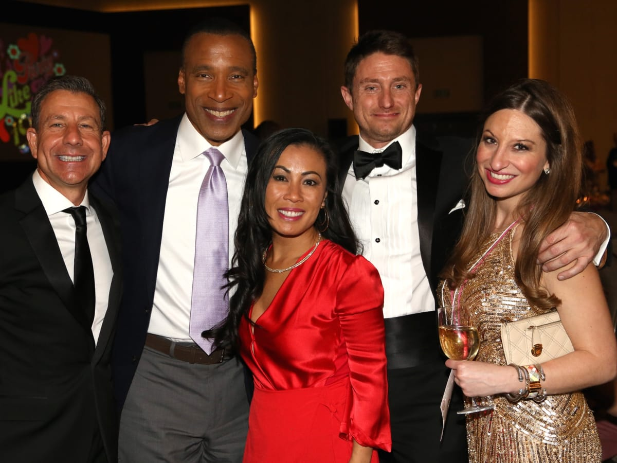 Brian Franco, Len Cannon, Chau Nguyen, Chris Smith, Laura Thompson at Houston Area Women's Center Gala