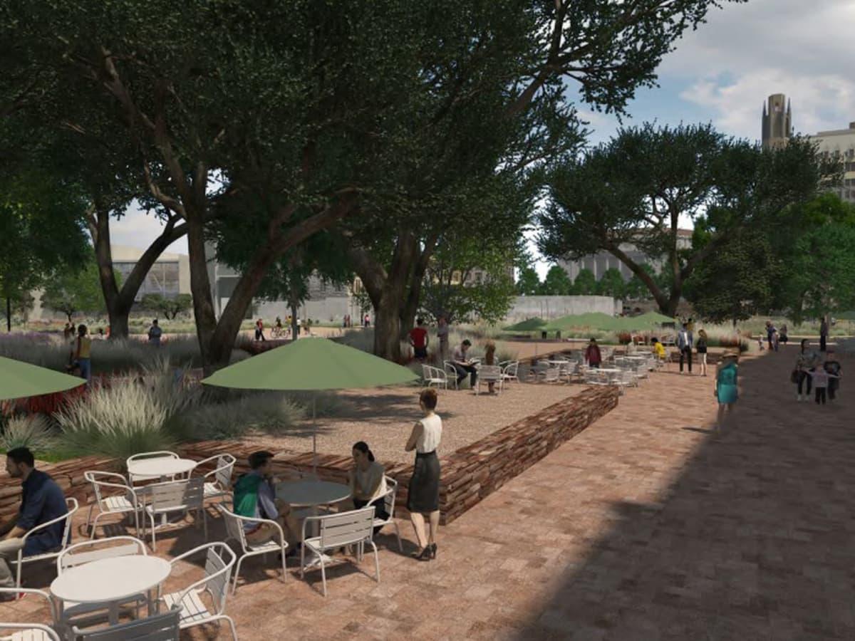 Alamo Master Plan 2017 pedestrian plaza