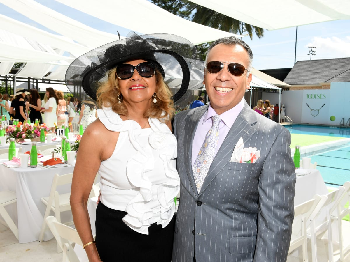 Houston, River Oaks and Tootsies tennis tournament luncheon, April 2017, Yvonne Cormier, Tony Bravo