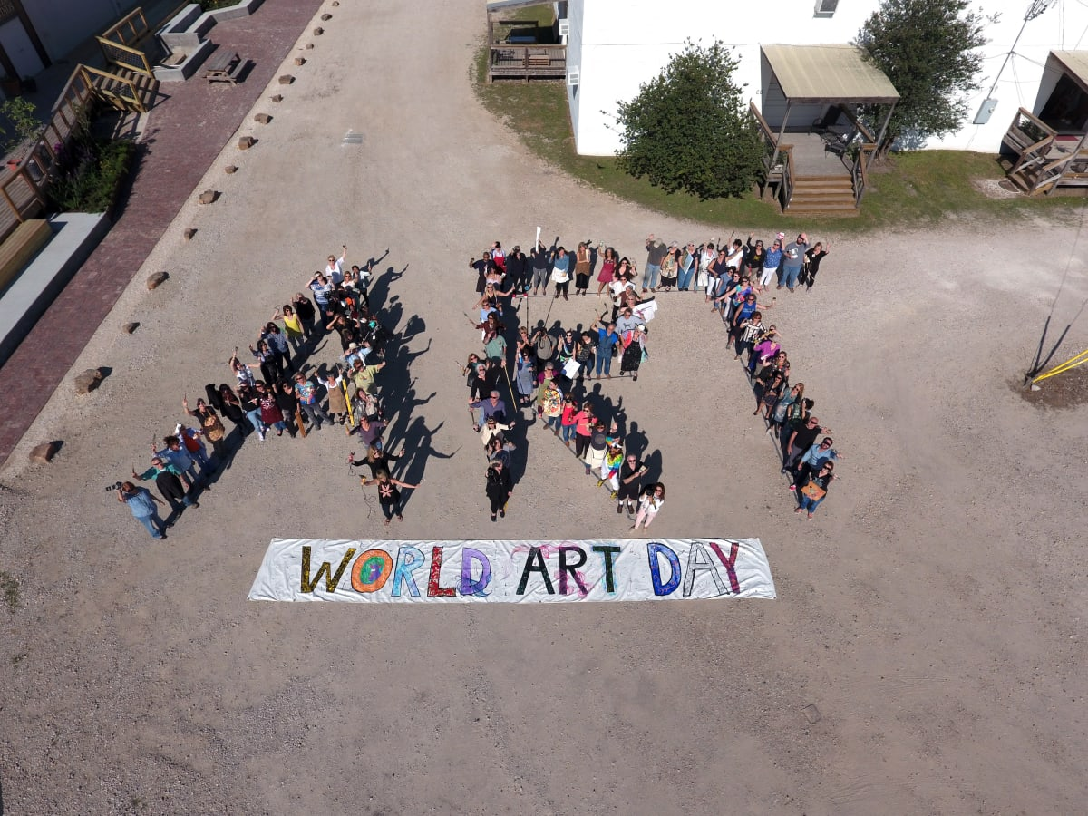 World Art Day 2017 drone photo