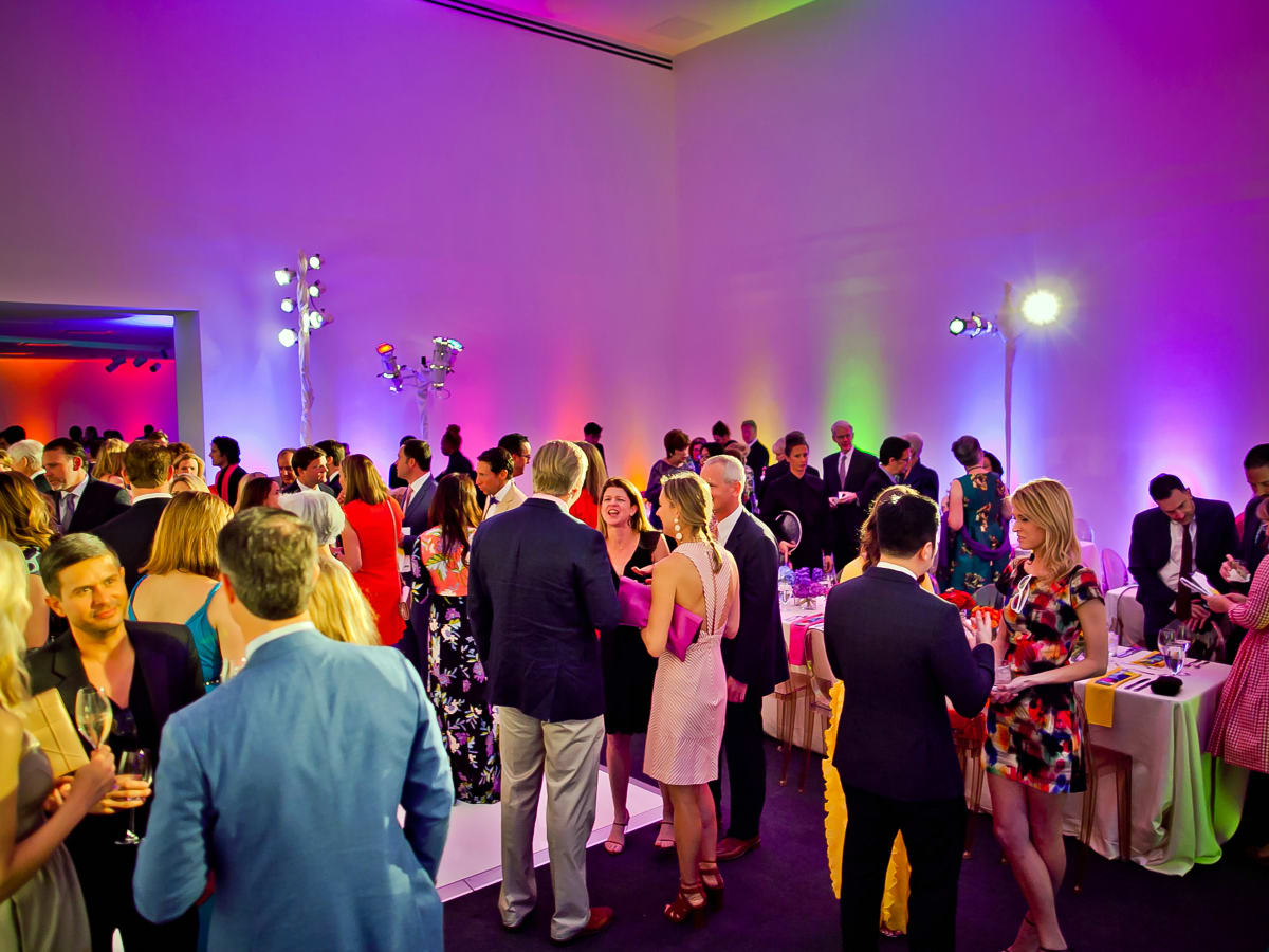 Houston, Blaffer Art Museum Color Splash Gala, April 2017, the crowd