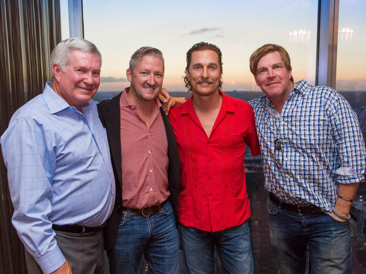 Mack, Jack & McConaughey 2017 Mack Brown Tim Love Matthew McCoanughey Jack Ingram