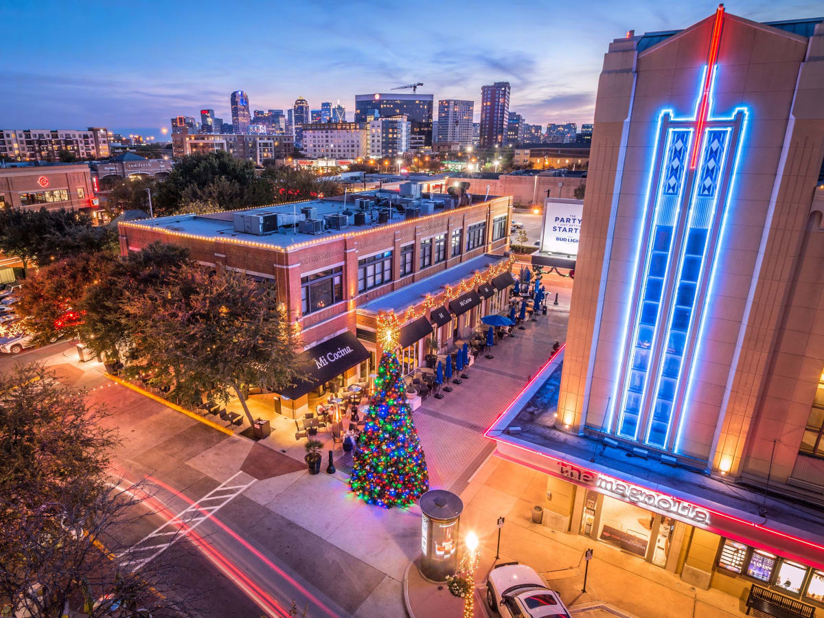 Uptown Dallas' West Village at the holidays