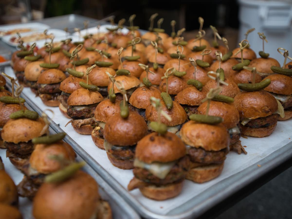 Bison Burgers from Kiran's at Recipe for Success dinner