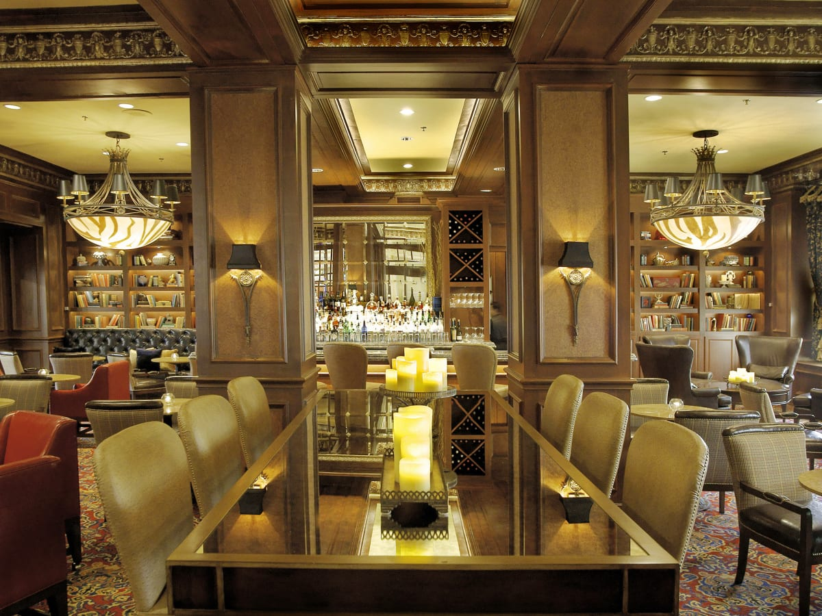 Library Bar at the Warwick Melrose Hotel Dallas