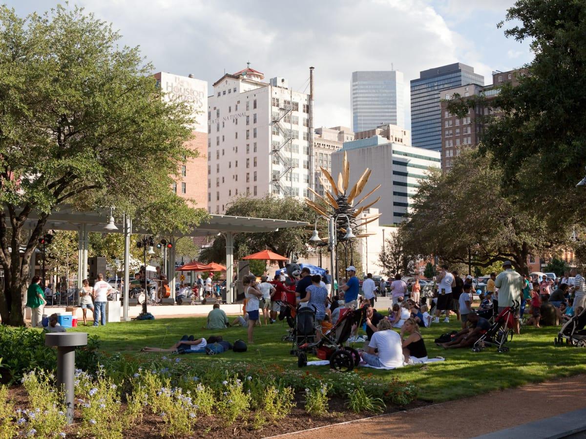 Market Square Park, skyline