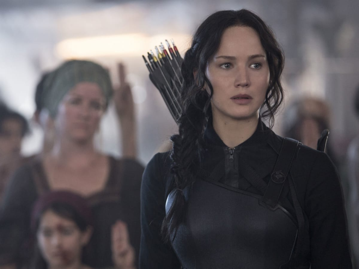 Jennifer Lawrence in The Hunger Games: Mockingay - Part 1