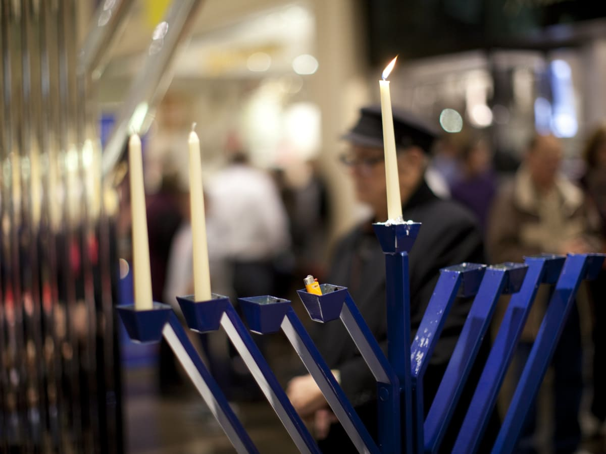Menorah lighting at NorthPark