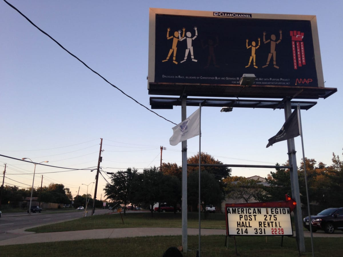 Make Art with Purpose Dialogues on Race billboard