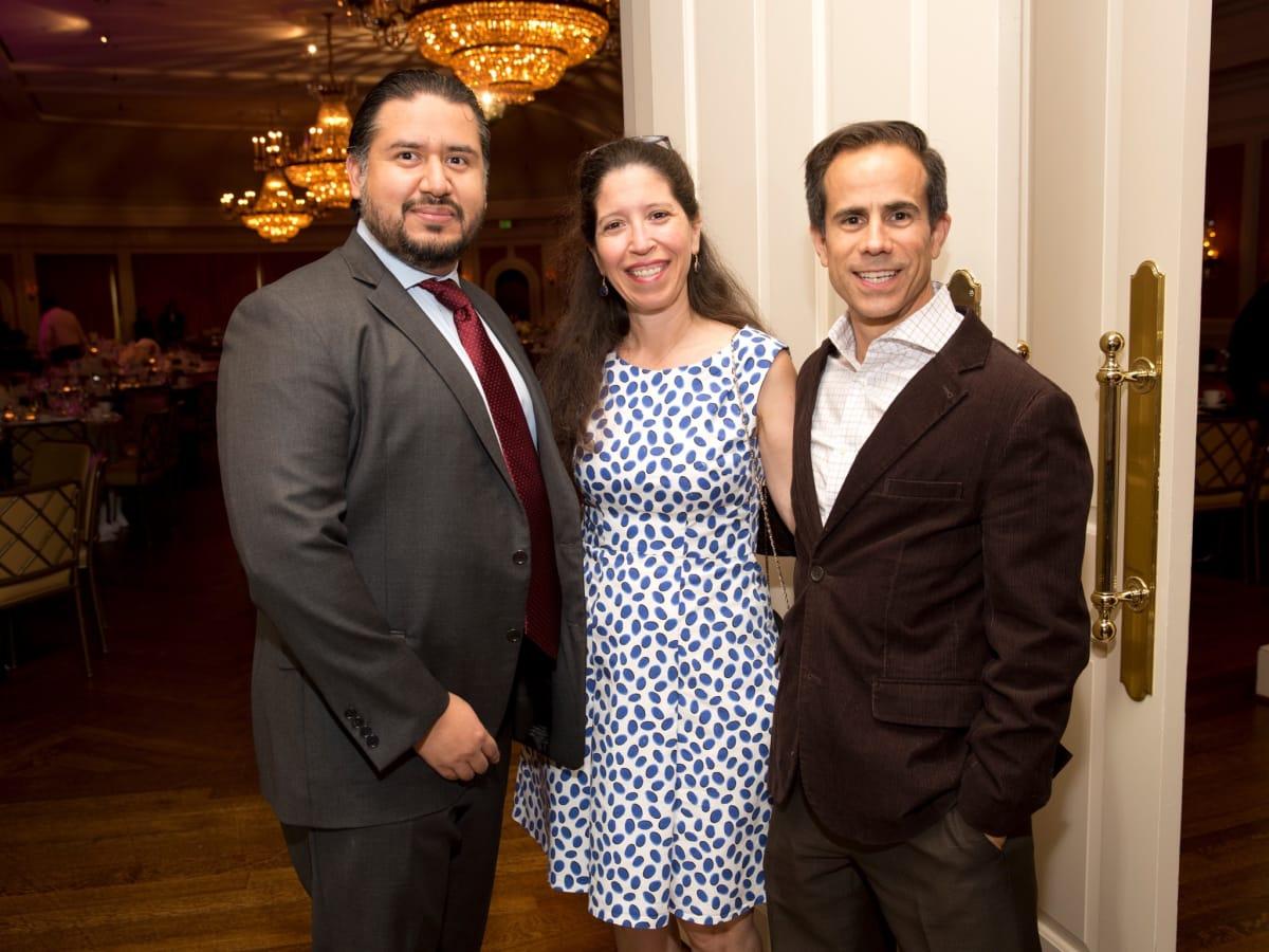David Perez, Liz Mendoza, Rudy Elizondo at Chinquapin Flashback Gala